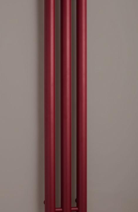 Koupelnový  radiátor  Rosendal  - bordó - R70/3RE