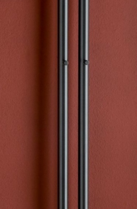 Koupelnový  radiátor  Rosendal  - černá -R2B/2
