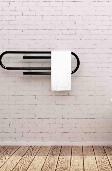 Koupelnový  radiátor Clip -  černá