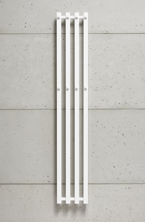 Kúpeľňový radiátor Pluto - biela