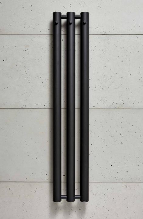 Kúpeľňový radiátor Rosendal  - struk. čierná